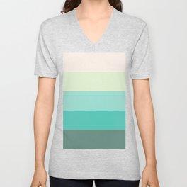 Soft Green Stripes Unisex V-Neck