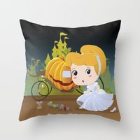 cinderella Throw Pillows featuring Cinderella by 7pk2 online
