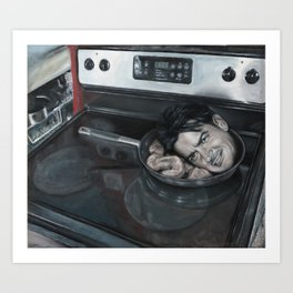 Still Life with Charlie Sheen and Pork Bung Art Print