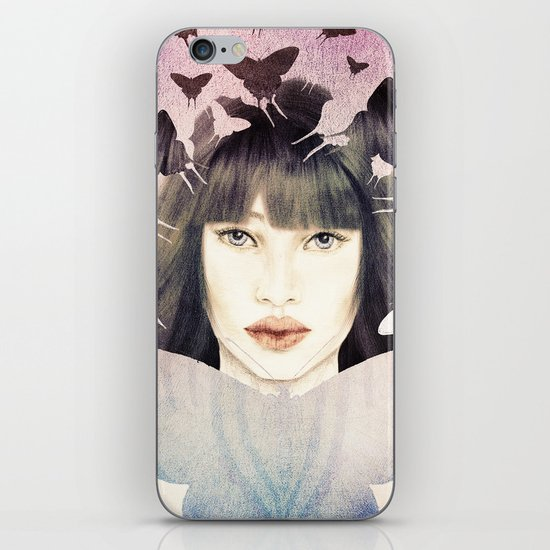The Time of Butterflies iPhone & iPod Skin