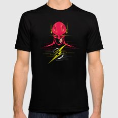 Speed force Black Mens Fitted Tee 2X-LARGE