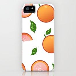Citrus-White iPhone Case