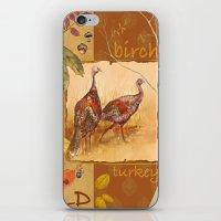 turkey iPhone & iPod Skins featuring Wild Turkey by Edith Jackson-Designs