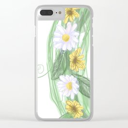 spring graffiti floral wreath Clear iPhone Case