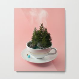 Hot cup of tree Metal Print