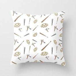 Weapons Pattern Throw Pillow