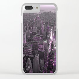 NEW YORK CITY XL Clear iPhone Case
