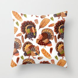 Turkey Gobblers Throw Pillow