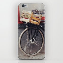 Bicycle, Wood Crate iPhone Skin