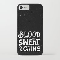 gym iPhone & iPod Cases featuring Gym by Textures