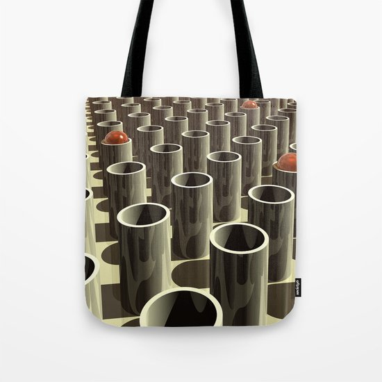 Stockyard of Cylinders Tote Bag