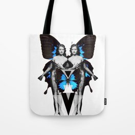 Butterfly Twin Goddess  Tote Bag