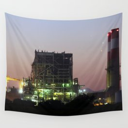 Power Station Lights Wall Tapestry
