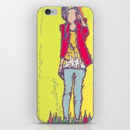 A Yellow Girl iPhone Skin