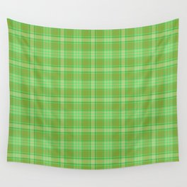St. Patrick's Day Plaid Wall Tapestry