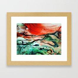RiverDelta Framed Art Print