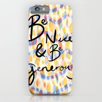 be kind and be generous iPhone 6s Slim Case