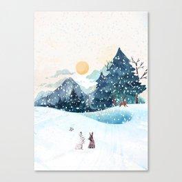 Happy Litlle Wildlife Canvas Print