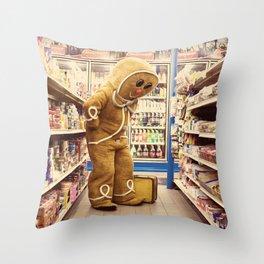 Gingerbread Man At Large Pt2 Throw Pillow