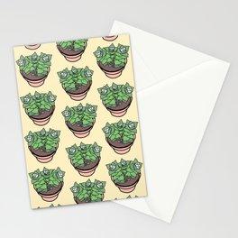Succulents House Plant Illustration Pattern Stationery Cards