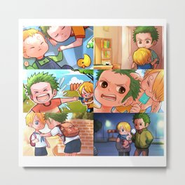 ZoSan Brother Story Metal Print
