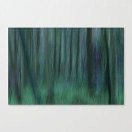 Painted Trees 2 Aqua Canvas Print