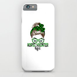 Lucky Hospice Volunteer St Patricks Day Irish Shamrock  iPhone Case