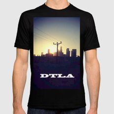 Downtown LA Sunset LARGE Mens Fitted Tee Black