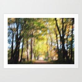 Blurry Trail Art Print