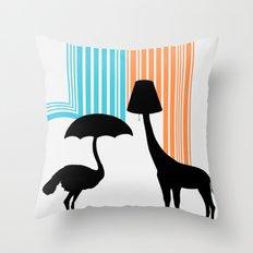 Animal Appliances Throw Pillow