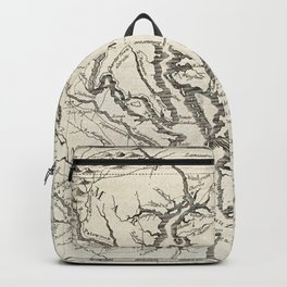Vintage Map of The Chesapeake Bay (1780) Backpack