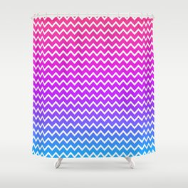 Rainbow Chevron Shower Curtain