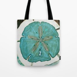 Sand Dollars Ocean Colors Tote Bag