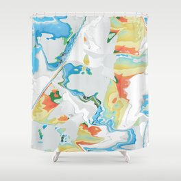 Eazy peazy painterly squeezy Shower Curtain