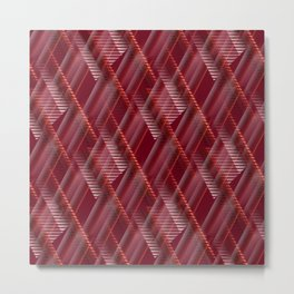 Pattern red shutter Metal Print