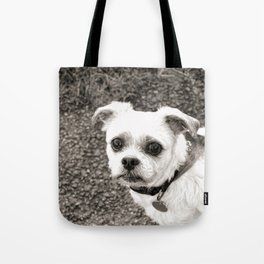 Molly black and white Tote Bag