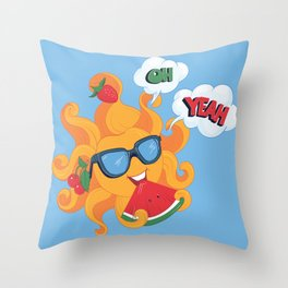 Oh Yeah Its Summer Time Throw Pillow