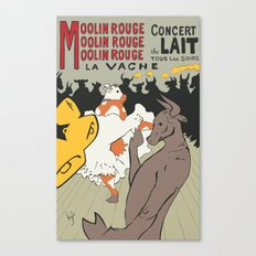 Moolin Rouge - This Cow Can Can Can Canvas Print