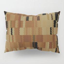 Brown Khaki Tan Brown and Black Digi Fractal Pillow Sham