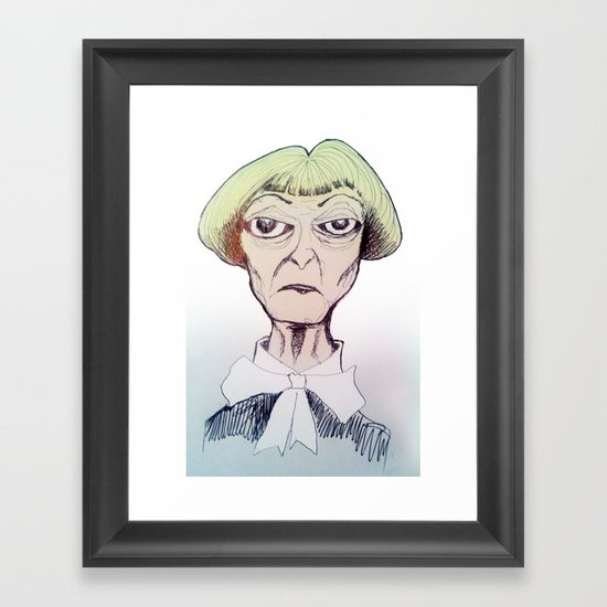 Betty D eyes Framed Art Print