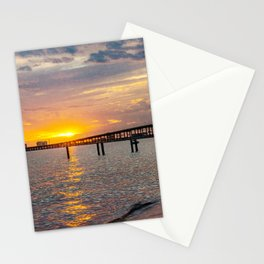 Mississippi Gulf Coast Sunset Colors Stationery Cards