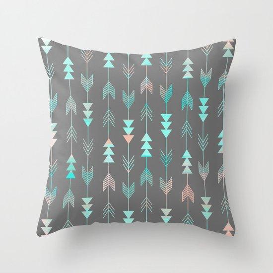 Aztec Arrows Throw Pillow
