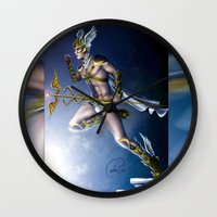 versace Wall Clocks featuring VERSACE GOD by CARLOSGZZ