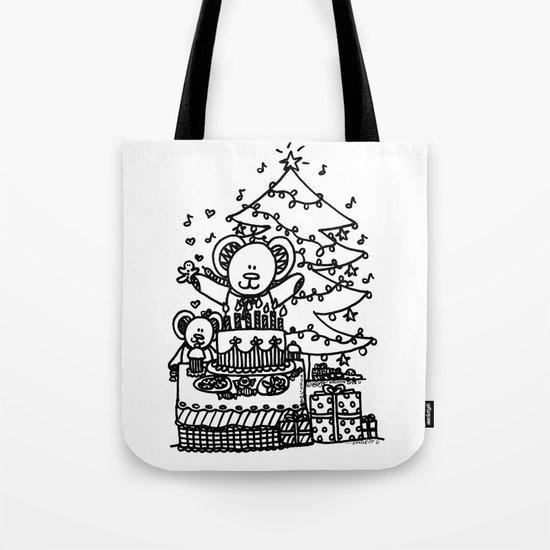 Christmas Party Bears! Tote Bag