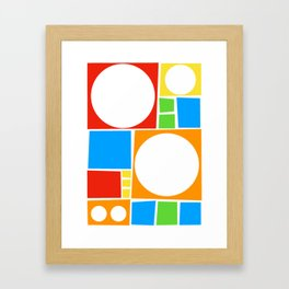 Colourful Abstract Shapes Pattern Framed Art Print