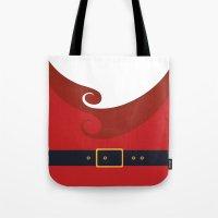 santa Tote Bags featuring Santa by Sara Eshak