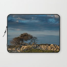 Wood, stone and clouds Laptop Sleeve