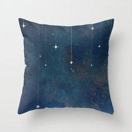 Hanging Stars Throw Pillow