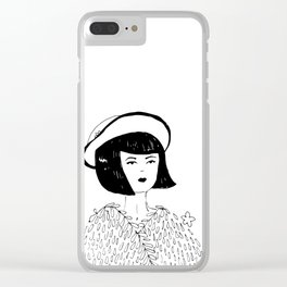 Hard to love I. Clear iPhone Case