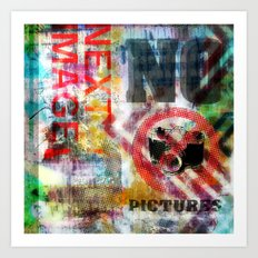 next image no pictures Art Print